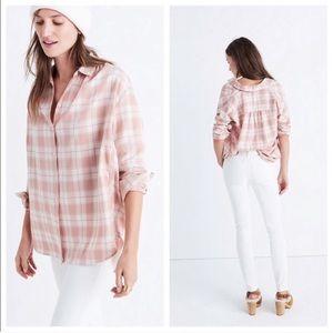 Madewell central Long Sleeve shirt Danville plaid
